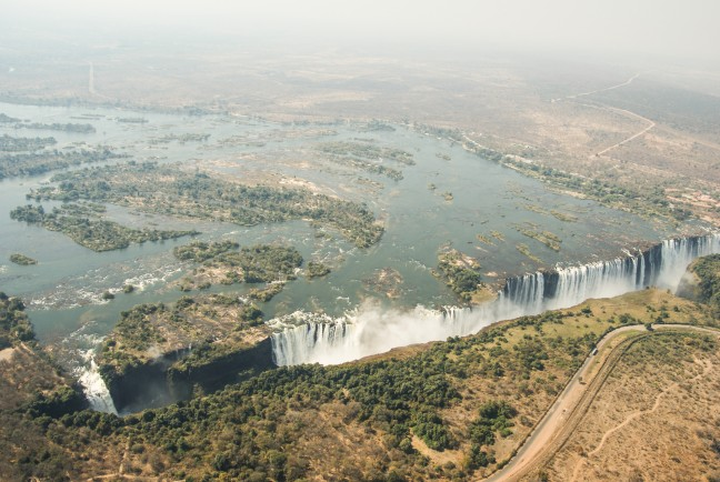 Vic Falls per helicopter