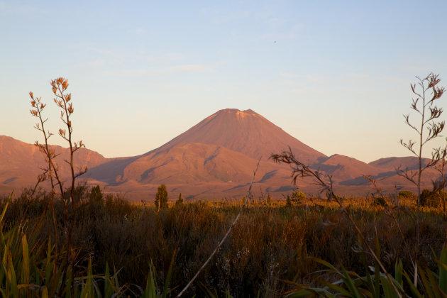 Tongariro Alpine in het avondlicht