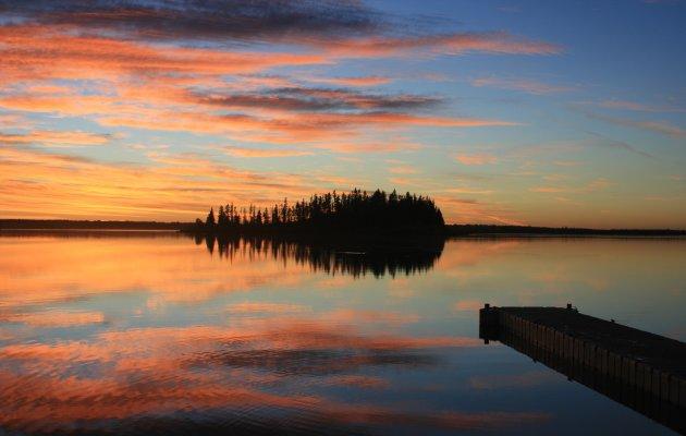 Sunset Elk Island National Park
