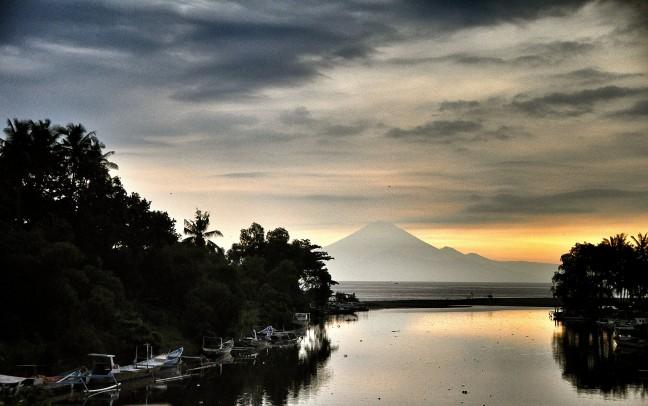 De Rinjani vulkaan