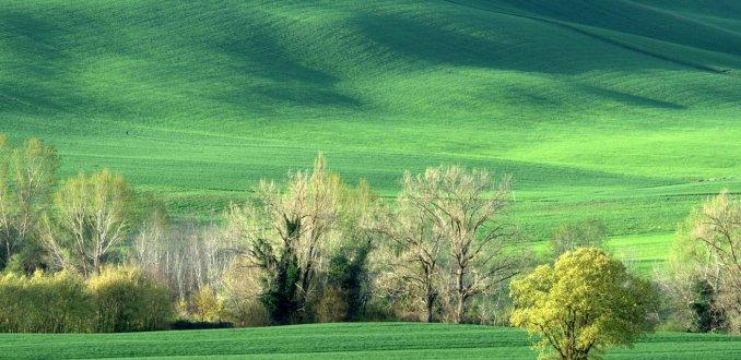 Toscane in de vroege lente.