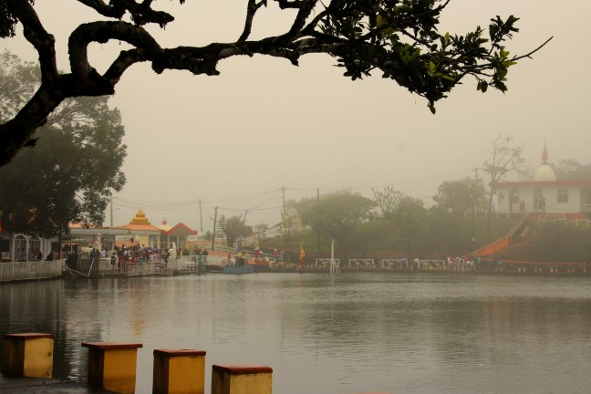 wierook en mist bij Grand bassin