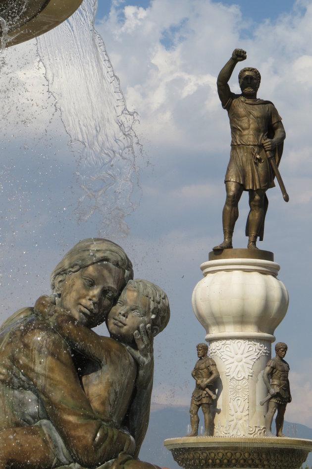 fontein van de moeders van Macedonie