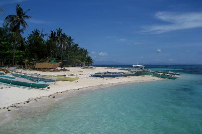 Bootjes op Malapascua