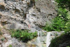'Waterfall jumping'