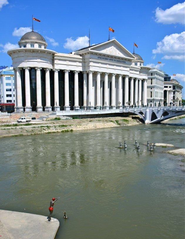 Het Macedonisch museum in Skopje.