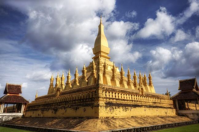 De gouden tempel 'Pha That Luang