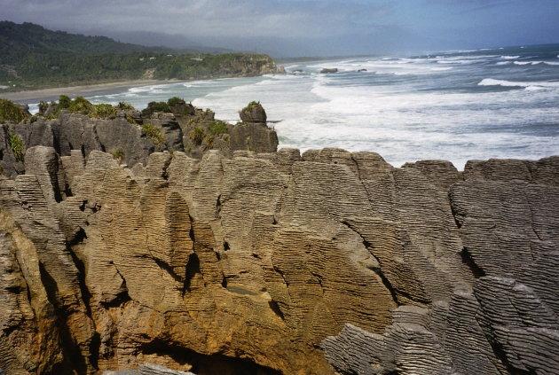 Pancake Rocks bij Punakaiki