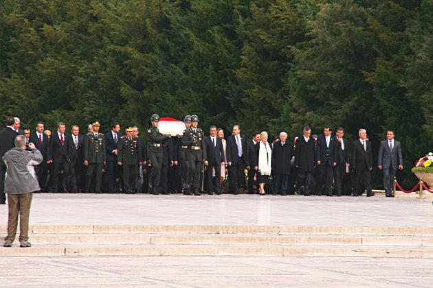 Hoog bezoek Mausoleum Atatürk
