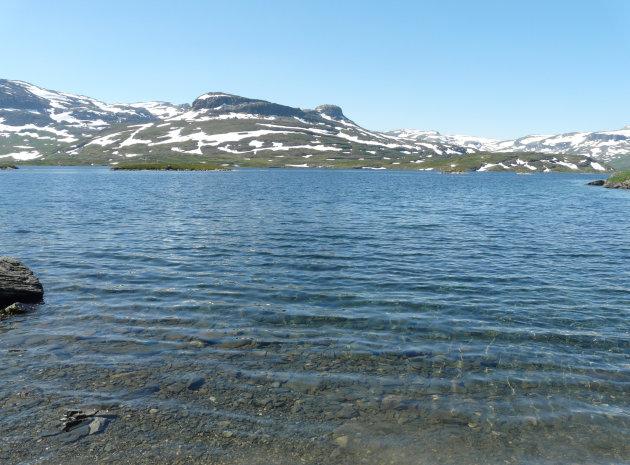 Uitzicht bij de Haukeliseter fjellstue