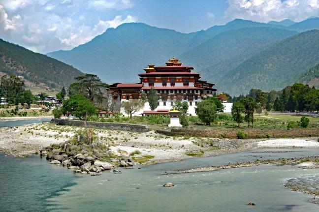 Punakha Dzong, een koninklijk gebouw