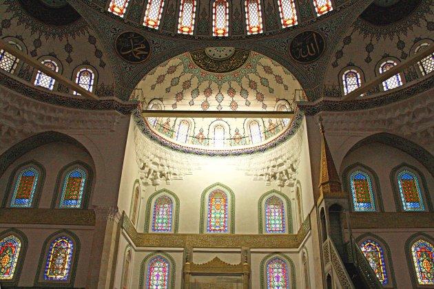 binnenkant Kocatepe-moskee