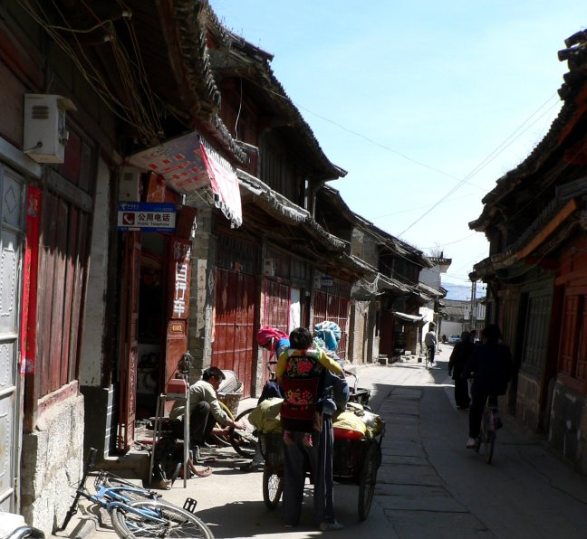 Straatbeeld Xizhou