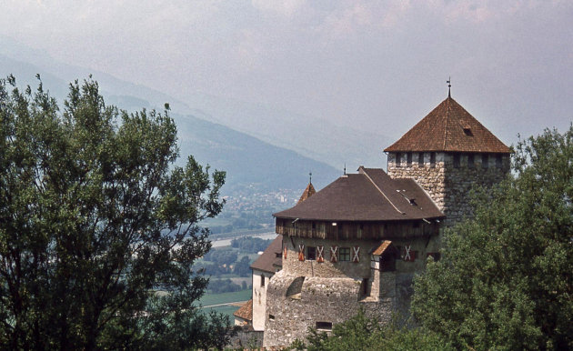 Het kasteel in Vaduz