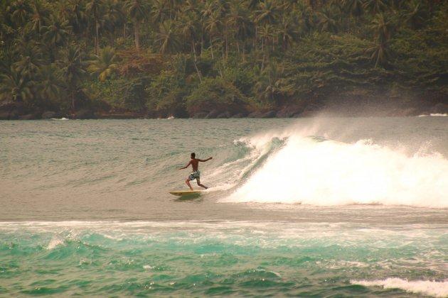 surfer in het onbekende