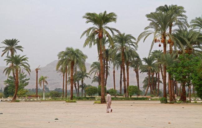 Plein voor Tempel van Karnak