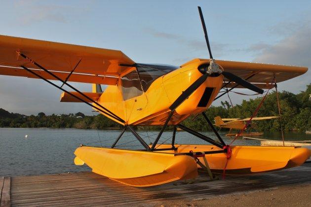 Het Watervliegtuig staat klaar.