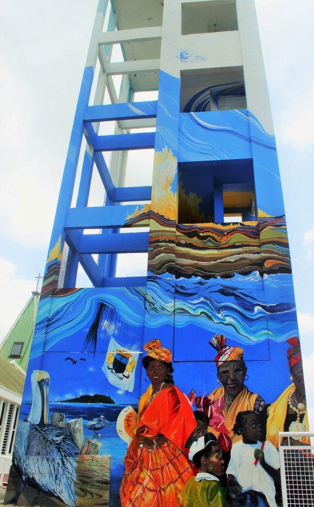 Kleurrijke klokkentoren