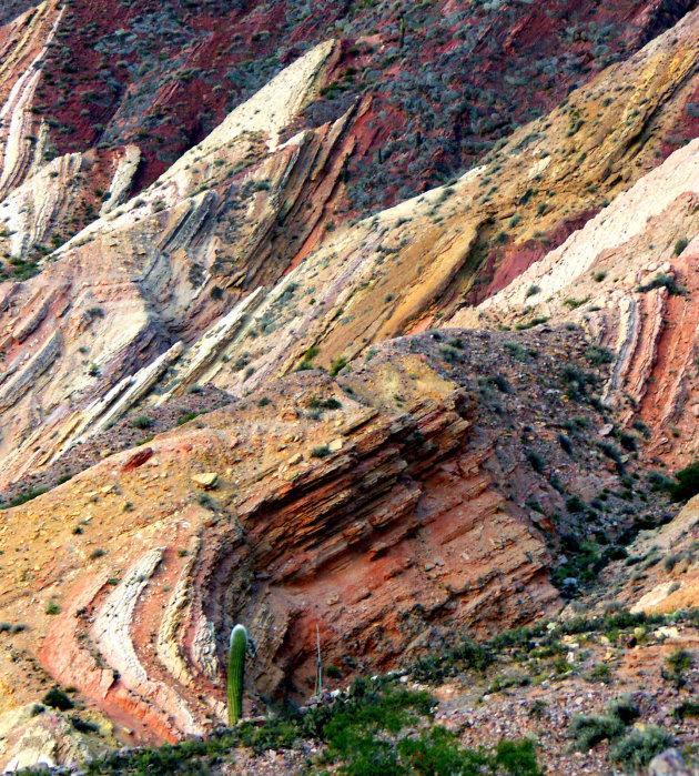Detail foto van de rotsen