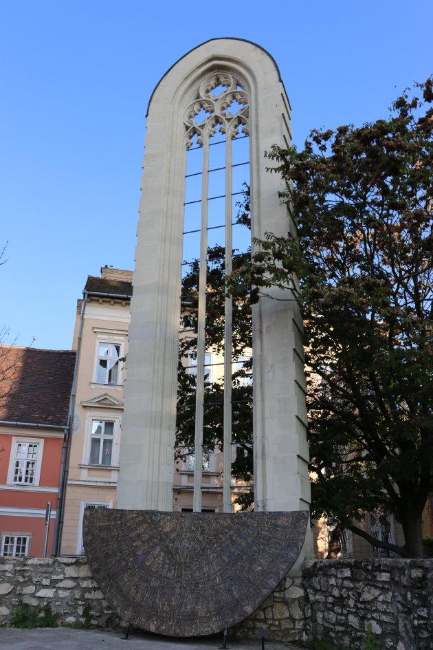 Het kerkvenster van de Maria Magdalenakerk