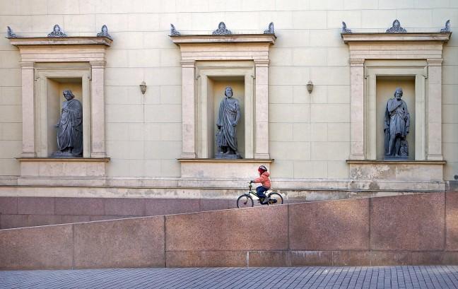 Op de fiets in Sint Petersburg