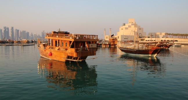 Corniche Doha met kerst