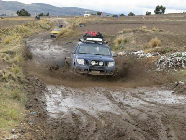Door de modder