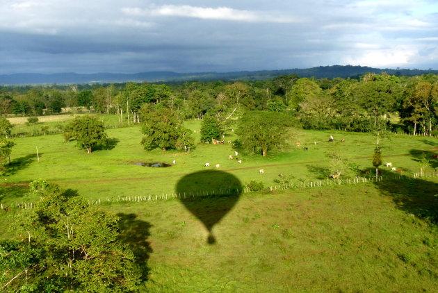 De schaduw van onze ballon