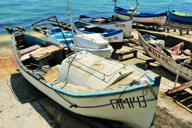 Bootjes in de haven van Pomorie