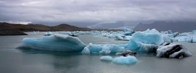 De ijsschotsen van Jökulsárlón .
