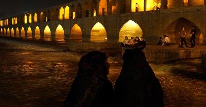Romantische plek bij de Zayandehrivier