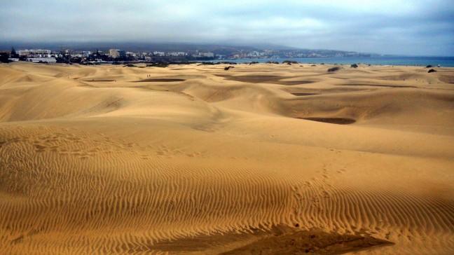 Woestijnlandschap bij Maspalomas