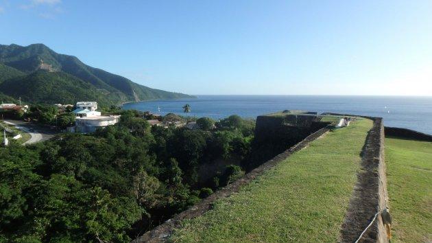 Uitzicht vanaf Fort Louis Delgrès,