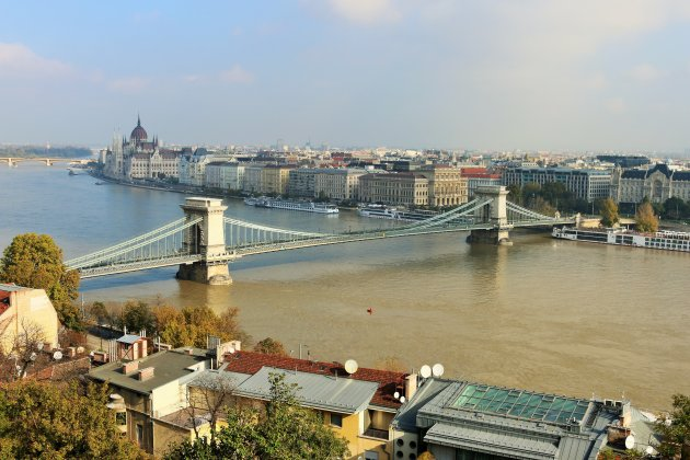 Prachtig zicht over Boedapest