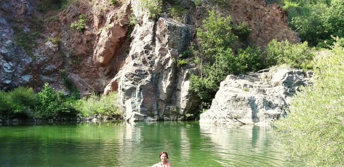 Zwemmen in de Erro rivier