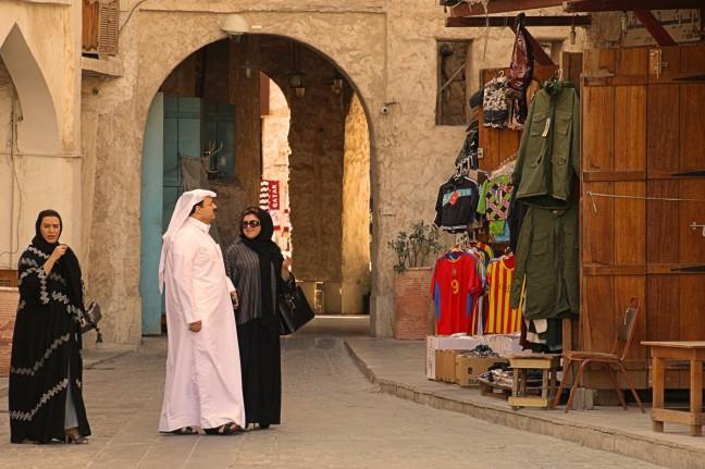 groene jas, soukh Doha