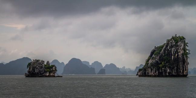 Ha Long Bay somber - ook mooi