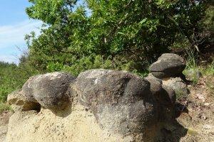 Murion, bizarre vormen in de rots