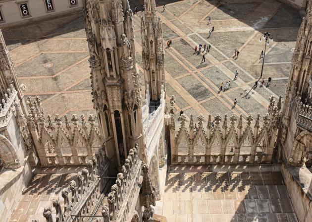 Uitzicht vanaf de Duomo Milaan