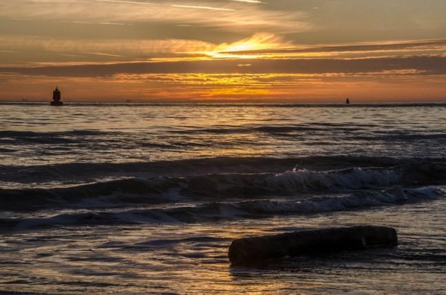 zonsondergang in Vlissingen