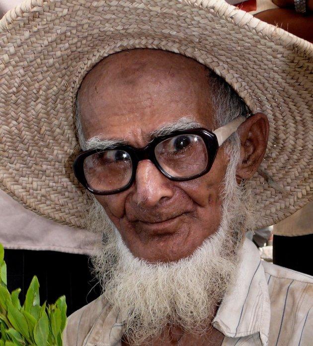 Oude man in Zabid
