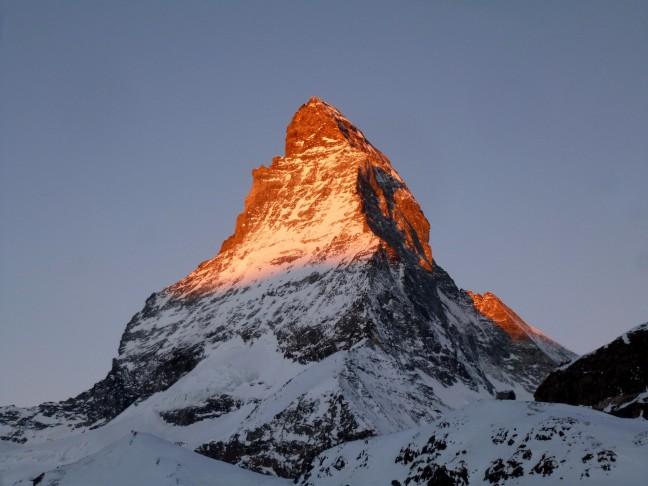 Matterhorn in de vroege ochtend