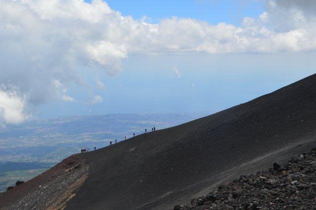 Prachtig uitzicht vanaf de Etna