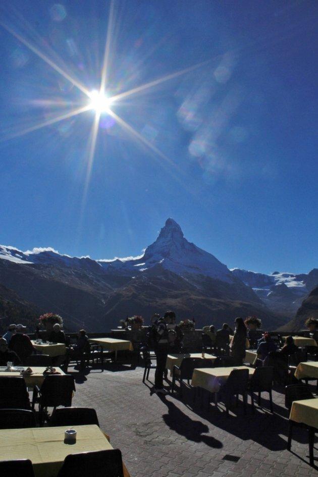Koffietijd onder de Matterhorn