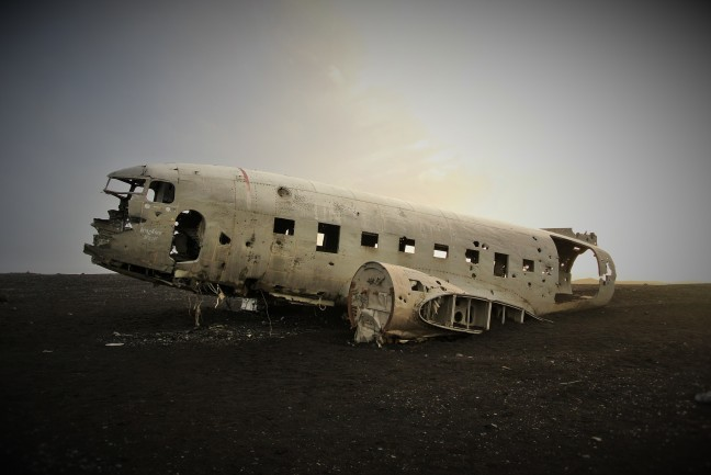 Wrecked DC-3 Airplane