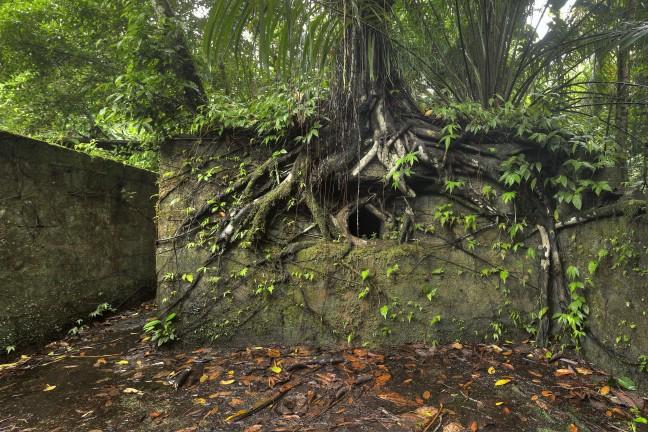 De gevangenis van Isla Gorgona.