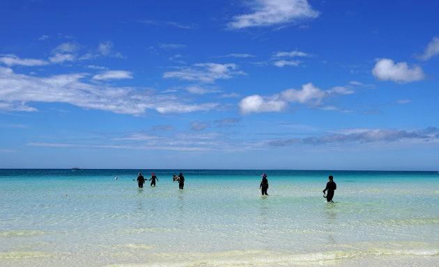 duikers op het mooie eiland Boracay