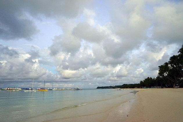 Boracay:het oostelijk uiteinde van White Beach