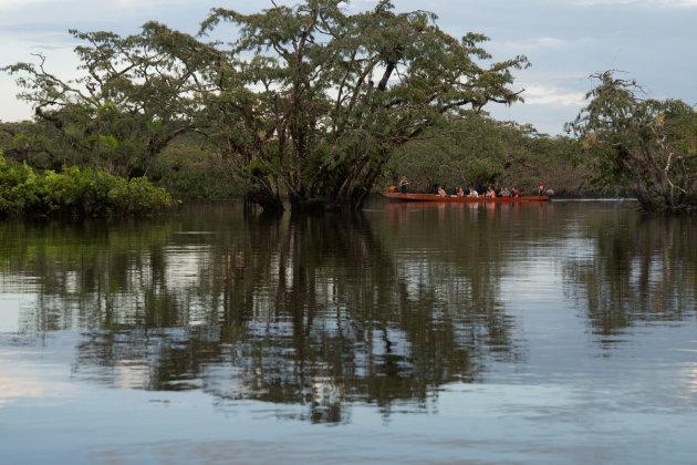 Naar Cuyabeno Lodge met een kano