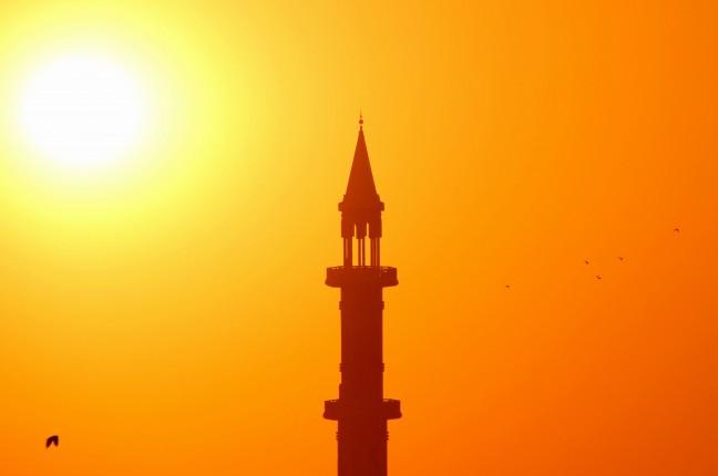 Zonsondergang in Doha